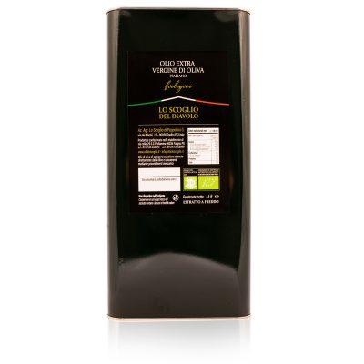 olio extra vergine di oliva lo scoglio biologico tanica 5 litri