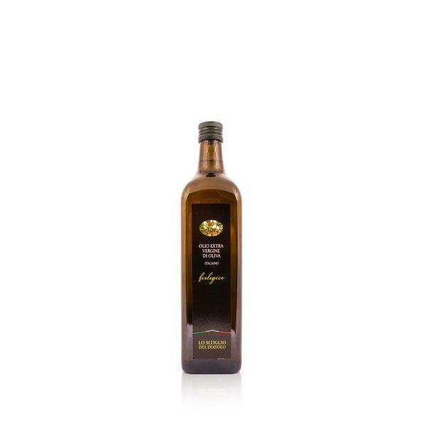 olio extravergine di oliva lo scoglio biologico 750 ml quadrata