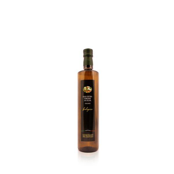 olio extravergine di oliva lo scoglio biologico 750ml