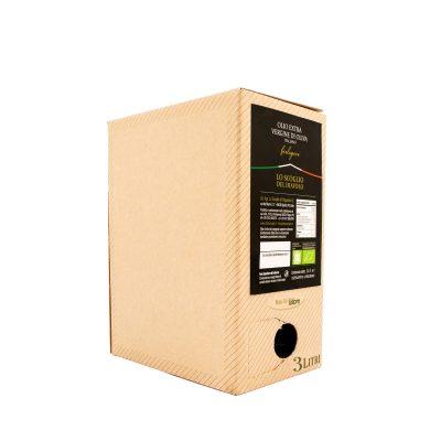 olio extravergine di oliva lo scoglio biologico box da 3L